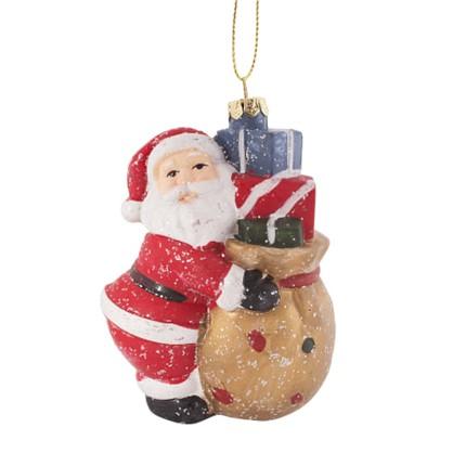 Украшение Елочное Санта С Подарочками 11 См в