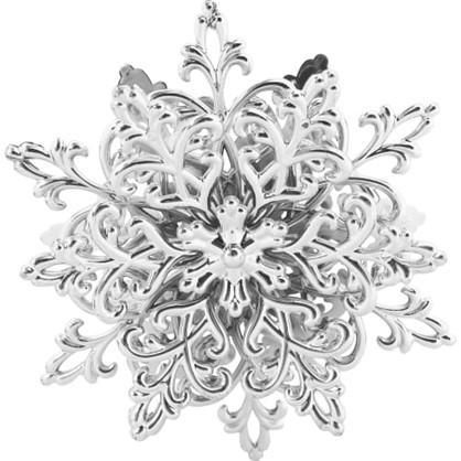 Украшение Елочное Снежинка Кристалл 11.5 См Гальванизированное Цвет Серебристый в