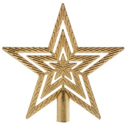 Верхушка Для Елки Звезда 18 См Цвет Золотой в