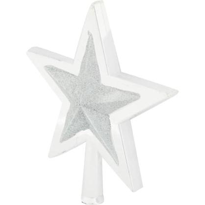 Верхушка Для Елки Звезда 25.5 См Цвет Серебро в