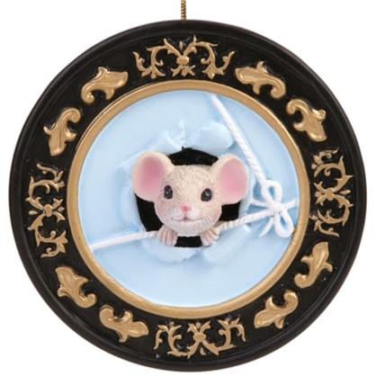 Елочное Украшение Мышка В Тарелочке 1 8 См в