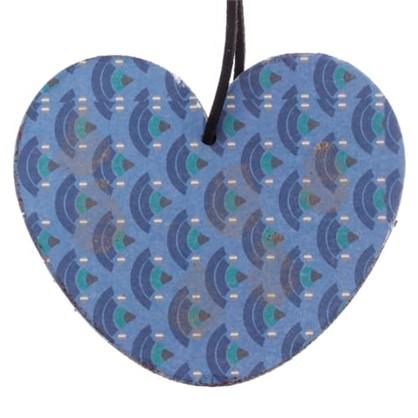 Елочное Украшение Сердце 10x9 См Дерево Цвет Голубой в