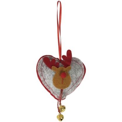 Елочное Украшение Сердце 12x9x2 См в